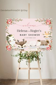 The cutest masked animal baby shower welcome sign for a baby girl. #babygirl #staysafe #babyshowerdecor #babyshower Baby Shower Printables, Party Printables, Sprinkle Invitations, Baby Shower Welcome Sign, Baby Sprinkle, Girl Shower, Diy Baby, Baby Shower Decorations, Baby Showers