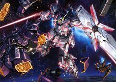 Unicorn Gundam vs Frontal's Royal Guard