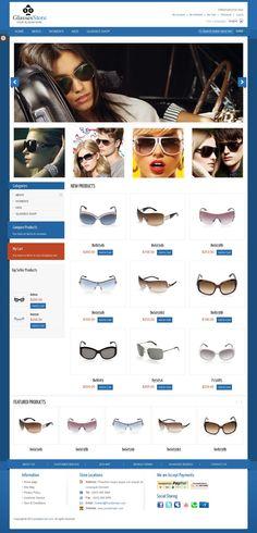 GlassesStore Magento Templates | Buy and Download: http://themeforest.net/item/glassesstore/460810?WT.ac=category_thumb&WT.z_author=Plaza-Themes&ref=ksioks