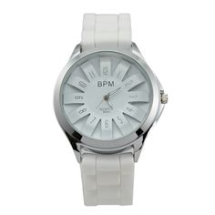 The product is a fashion weave silicone quartz wrist watch, it is fashion and beautiful. Product Description    Details: Band material: weave shape silicone Case material: stainless steel Protuberant flower shape dial Clasp: buckle Quartz movement Water resistance Product size: L 24....