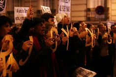 Protest against corruption in Spain