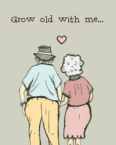 Grow+old+with+me+Funny+and+sweet+Anniversary+card+by+PoopsaDoodles,+$3.75 D'awwwwwwwwwwww