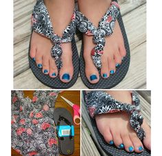 DIY No Sew Clothes - Make these ultra cool fabric flip flops
