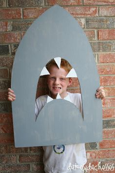 Shark Party Backdrop and Photo Prop - Dukes & Duchesses