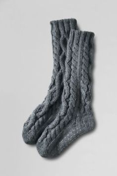 Women's Hand Knit Slipper Socks from Lands' End. These socks are awesome and keeps my feet warm!