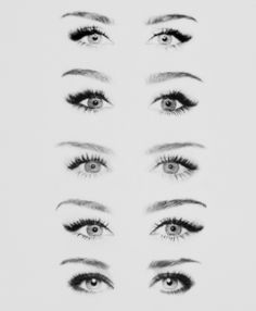 kind of bizarre how different eye makeup can change the shape of a person's eye's entirely