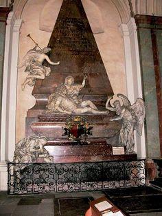 Náhrobek Jana Václava Vratislava z Mitrovic, 1712-4, (kostel sv. Jakuba v Praze), podle concetta J. B. F. z Erlachu vytvořil Ferdinand M. Brokoff