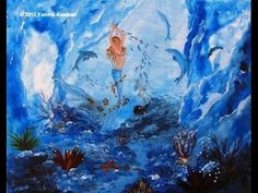 Mermaid Underwater - Acrylic Painting on Canvas