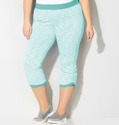 Shop stylish exercise and lounge wear like our plus size Heathered Ruched Active Capri available in sizes 14-32 online at avenue.com. Avenue Store