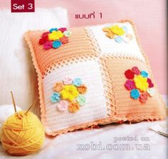 Needle-Works Butterfly: Decorate Your House With These Beautiful And Easy Crochet Pillows Crochet Motifs, Filet Crochet, Crochet Home, Diy Crochet, Crochet Cushions, Victorian Decor, Colorful Pillows, Crochet Flowers, Cross Stitch Patterns