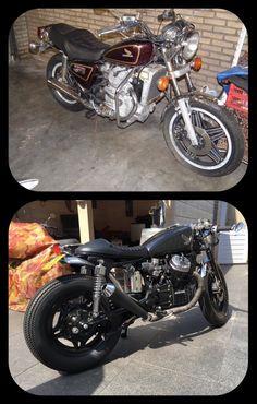 Voor en na 1980 honda cx500c