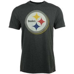 '47 Brand Men's Pittsburgh Steelers Forward High Point T-Shirt ($38) ❤ liked on Polyvore featuring men's fashion, men's clothing, men's shirts, men's t-shirts, dark gray, mens t shirts and mens graphic t shirts
