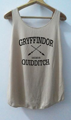 Gryffindor Shirt Quidditch Tank Top Pop Punk Rock Tank Top Vest Women T shirt Harry Potter T-Shirt SizeS,M,L