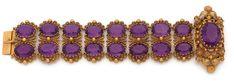 Lot : ANNEES 1820  - BRACELET AMETHYSTES  - Il se compose de deux rangs d'améthystes[...]   Dans la vente Importants Bijoux - Première Partie à Tajan