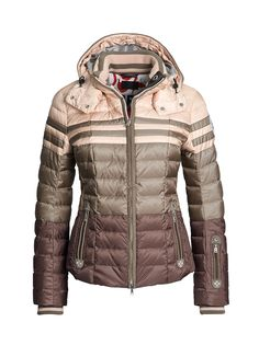 f17ba13a0 Bogner Womens TEA-D Ski Jacket Down Ski Jacket, Ski Pants, Brown Pants