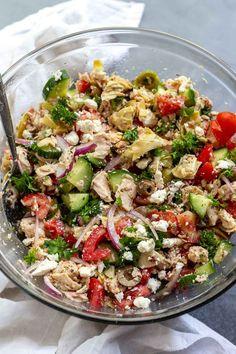 Mediterranean Tuna Salad - No Mayo