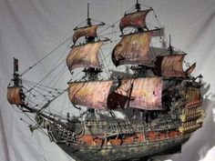 """By Anatoly """" Queen Anne's Revenge """" Material: wood """" Scale Scratch build Vingança da rainha Anna Wooden Speed Boats, Wooden Boats, Mercedes Benz 300, Scale Model Ships, Scale Models, Model Sailing Ships, Pirate Boats, Model Ship Building, Ship Of The Line"""