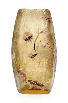 A GALLÉ ENAMELLED GLASS VASE | CIRCA 1895 | 1900s, flowers & plants | Christie's