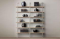 8 Ways To Make A Small Space Feel Huge #refinery29  http://www.refinery29.com/60678#slide-6  Tip #6 A pipe-and-plank shelving system might be the most amazing thing a DIYer has ever dreamed up. Seriously —you can customize it to fit your space, your budget, and the amount of stuff you want to store. You can knock out this project in an afternoon with one trip to Lowe's and a tutorial, or you can take the ready-made route. Restoration Hardware Maritime Shelf System, $695-$975, available at…