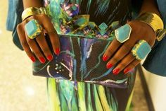 VBH clutch and Stephanie Anne and Kara Ross rings
