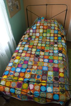 amazing quilt made from hand dyed fabric