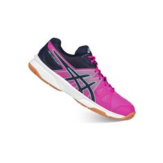 ASICS GEL-Upcourt Women's Volleyball Shoes, Size: 10.5, Dark Pink