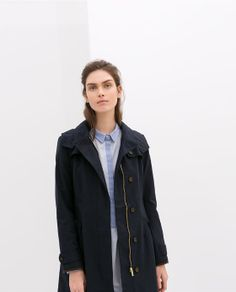 SHORT HOODED TRENCH COAT from Zara