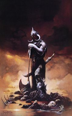 Frank Frazetta was an American fantasy and science fiction artist, noted for comic books, paperback book covers, paintings, posters, LP record album covers and other media. He was the subject of a 2003 documentary. Frazetta was inducted into the comic book industry's Will Eisner Comic Book Hall of Fame in 1995 and