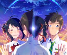 Watch Watch Kimi no Na wa. English Subbed English Subbed in HD on Your Name.,君の名は。 English Subbed online for free in high quality. Your Name Movie, Your Name Anime, Mitsuha And Taki, Anime Manga, Anime Art, Kimi No Na Wa Wallpaper, The Garden Of Words, Makoto, Tamako Love Story