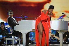 Leaving it all on stage: Singer Fantasia Barrino gave a soulful performance...