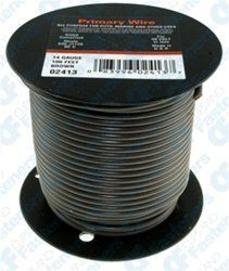 14 Gauge PVC Primary Wire Brown 100' Roll by Clipsandfasteners.com Inc. $22.99. Primary WireStandard PVC Insulation (SE/GPT Type)Suitable for Most Automotive ApplicationsFree Stripping, Abrasion ResistantMeets Most O.E.M. Vehicle StandardsGauge: 16Stranding: 19 X 27O.D.: .117Color: Brown1 100' Roll Per Package