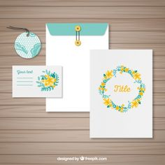 Hand painted stationery with flowers