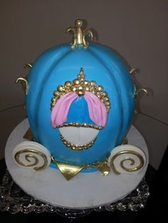Cinderella's Carriage Birthday Cake