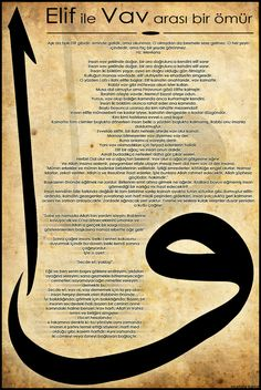 Elif ile Vav by burgulumakarna on DeviantArt Allah Islam, Islam Muslim, Learning English Is Fun, Prophets In Islam, Rumi Love, Islam Religion, Islamic Calligraphy, Sufi, Islamic Art