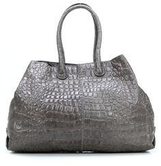 wardow.com - #Liebeskind, Croco Chelsea Shopper Leder french grey 50 cm