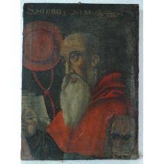 ÓLEO SOBRE LIENZO SAN JERÓNIMO SIGLO XVII -305