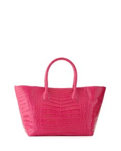 Crocodile+Small+Convertible+Tote+Bag,+Pink+Matte+by+Nancy+Gonzalez+at+Neiman+Marcus.  $3550 May 2017