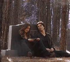 Nina Dobrev (Elena Gilbert) & Ian Somerhalder (Damon Salvatore) bts of The Vampire Diaries 6x09