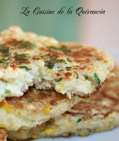 Okara (aka soybean pulp) and Oat Bran Pancake with Summer Squash Healthy Grains, Healthy Cooking, Healthy Recipes, Plat Vegan, Potato Rice, Salty Foods, Healthy Sugar, Galette, Nut Butter