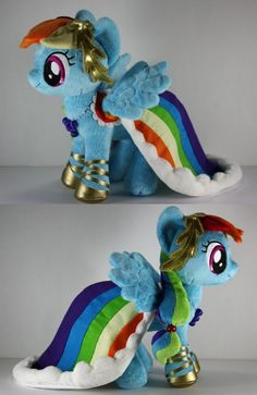 Gala Rainbow Dash Plushie by BabyLondonStar.  This is one of the plushies that inspired me to start making my own.