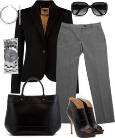 """Capri Summer Work Outfit"" by rachelle-is on Polyvore"