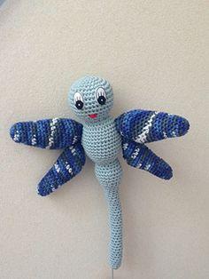 ravelry.com, crochet, free pattern, dragonfly, stuffed toy, haken, gratis patroon, libelle, knuffel