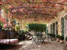 Outdoor space -Villa l´Orangerie, Luberon Valley, Provence.