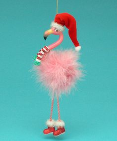 Look what I found on #zulily! Flamingo Dangling Legs Ornament #zulilyfinds