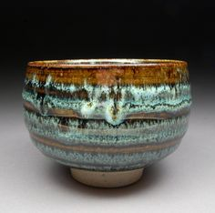 Tenmoku and Nuka Glazed Matcha Chawan Tea Bowl with Unique One of a Kind Glaze finish.. $85.00, via Etsy.