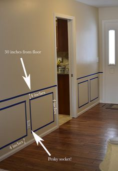 Bartons Blabbing: Fablous Foyer here we come! - Bartons Blabbing: Fablous Foyer here we come! House Design, Wall Paneling Diy, House Interior, Waynes Coating Dining Room, Home Room Design, Home Remodeling, Home, Interior, Dining Room Wainscoting