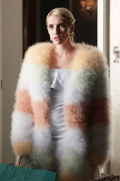 10 outfits we want to steal from Scream Queens #fur #fashion on the screen