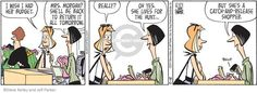 The Comic Strips :: Steve Kelley Jeff Parker :: Dustin :: 2014-05-15 :: Image Number 111027 :: I wish I had her budget … But she's a catch-and-release shopper.