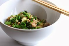 Minced Pork with Garlic and Mustard Greens Recipe