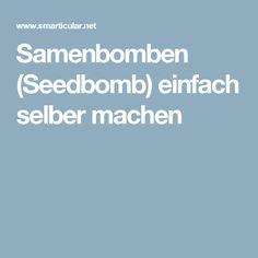 Samenbomben (Seedbomb) einfach selber machen
